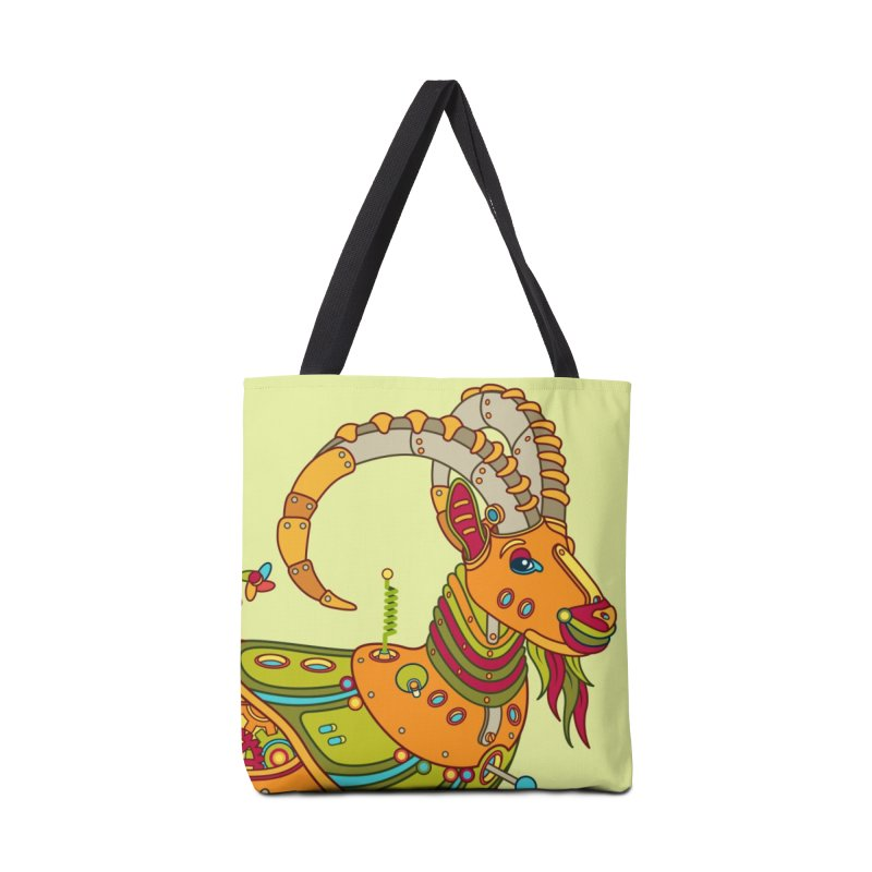Ibex, cool art from the AlphaPod Collection Accessories Tote Bag Bag by AlphaPod