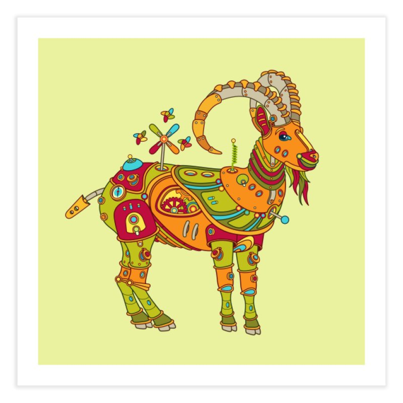 Ibex, cool wall art for kids and adults alike Home Fine Art Print by AlphaPod