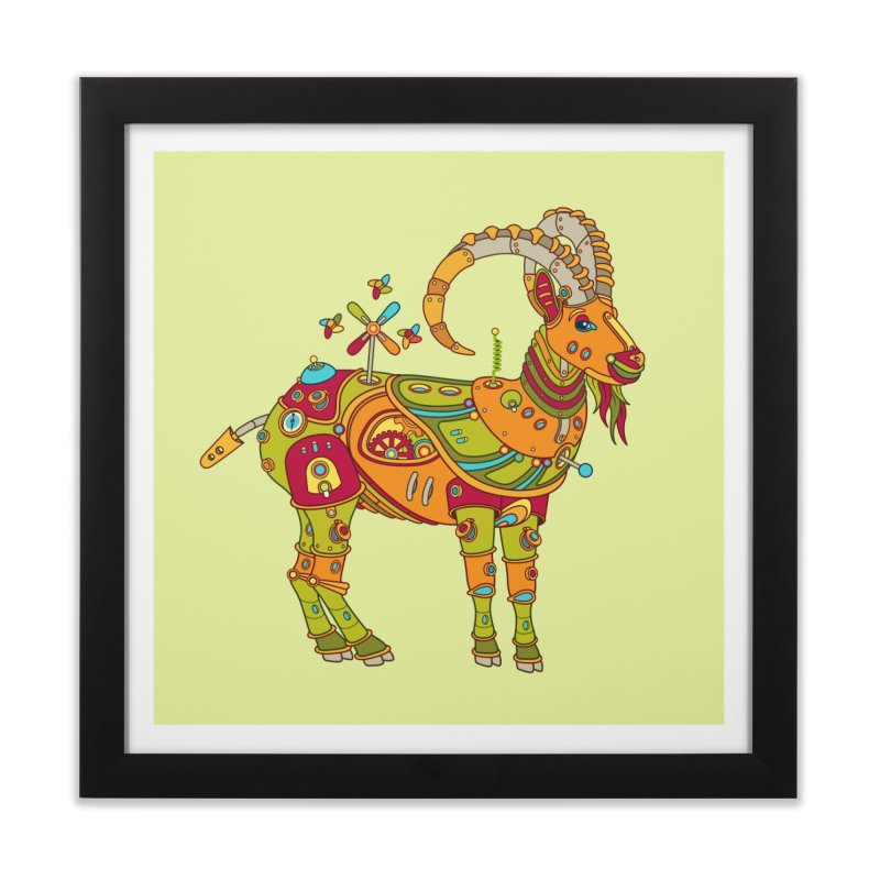Ibex, cool art from the AlphaPod Collection Home Framed Fine Art Print by AlphaPod