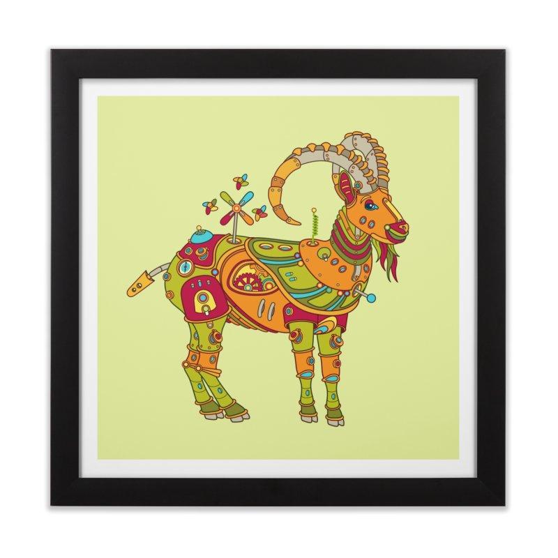 Ibex, cool wall art for kids and adults alike Home Framed Fine Art Print by AlphaPod