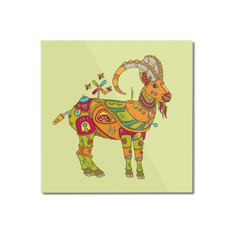 Ibex, cool art from the AlphaPod Collection Home Mounted Acrylic Print by AlphaPod