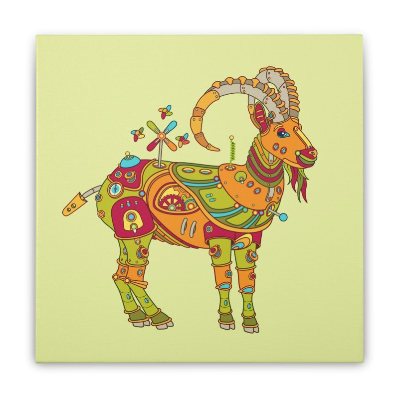 Ibex, cool art from the AlphaPod Collection Home Stretched Canvas by AlphaPod