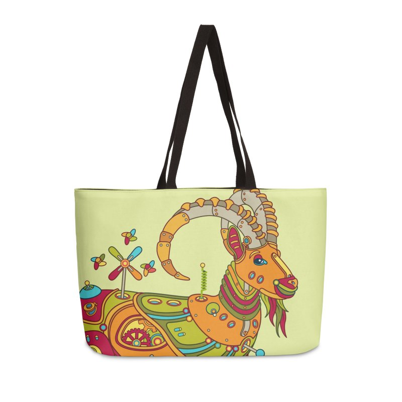 Ibex, cool art from the AlphaPod Collection Accessories Weekender Bag Bag by AlphaPod