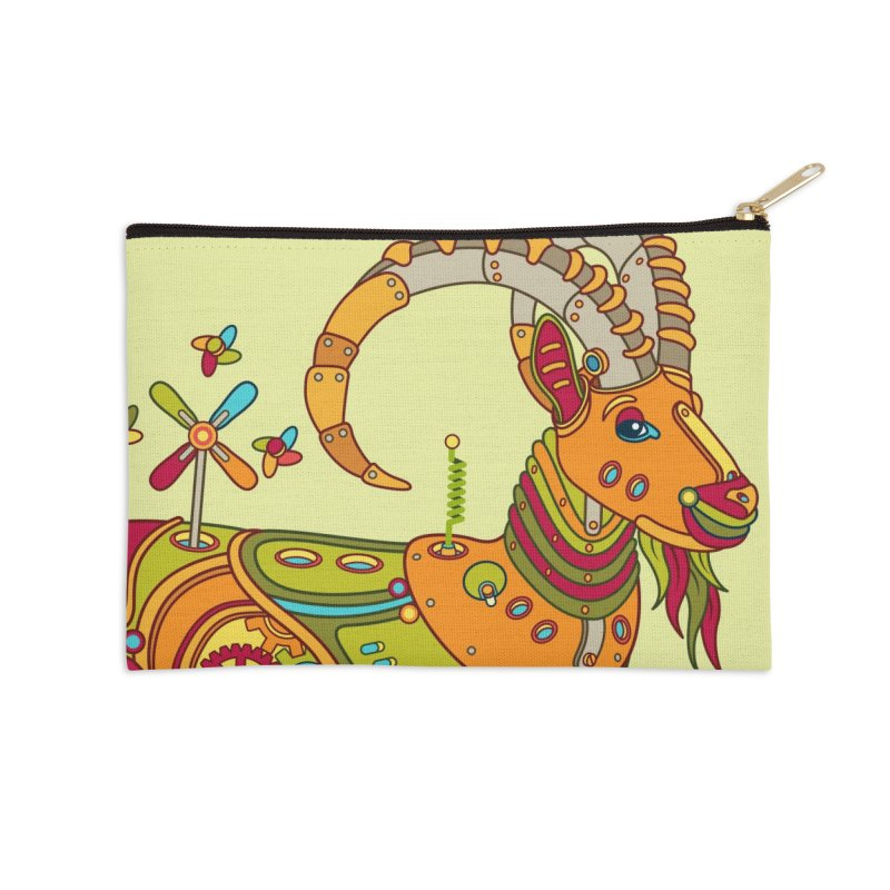 Ibex, cool art from the AlphaPod Collection Accessories Zip Pouch by AlphaPod