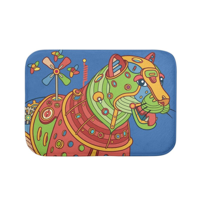Jaguar, cool art from the AlphaPod Collection Home Bath Mat by AlphaPod