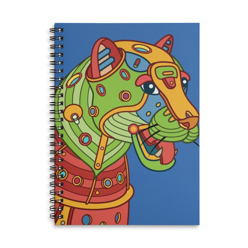 Jaguar, cool art from the AlphaPod Collection Accessories Lined Spiral Notebook by AlphaPod