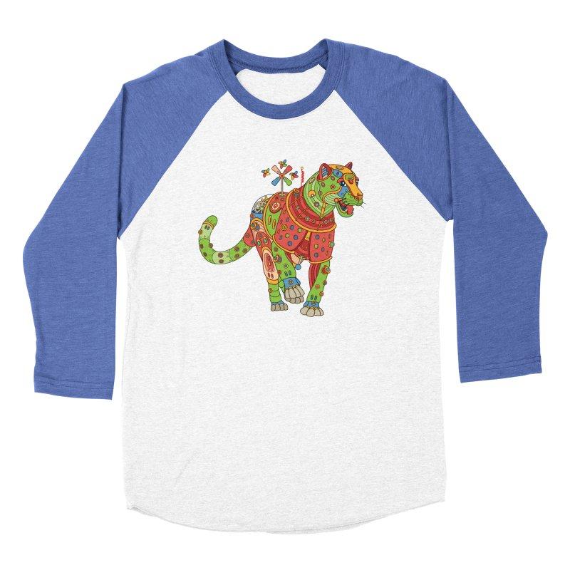Jaguar, cool art from the AlphaPod Collection Men's Baseball Triblend Longsleeve T-Shirt by AlphaPod
