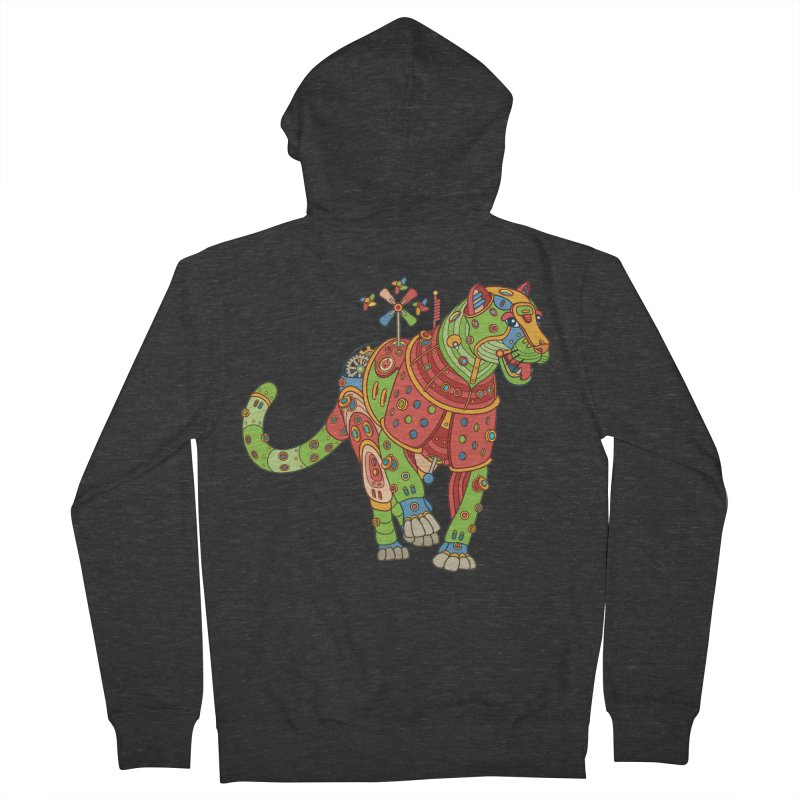 Jaguar, cool art from the AlphaPod Collection Men's Zip-Up Hoody by AlphaPod