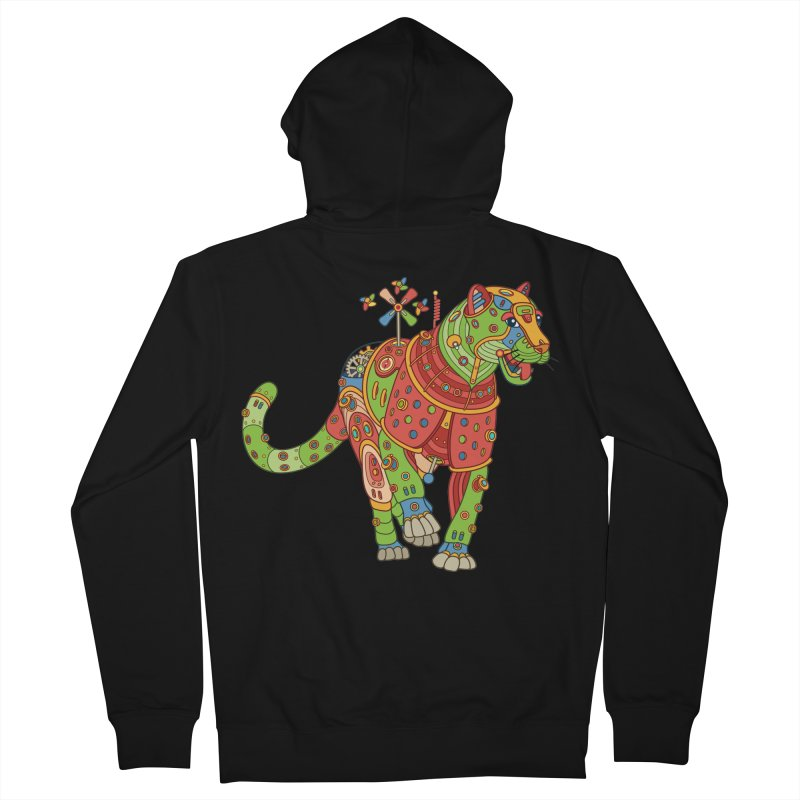 Jaguar, cool wall art for kids and adults alike Men's Zip-Up Hoody by AlphaPod