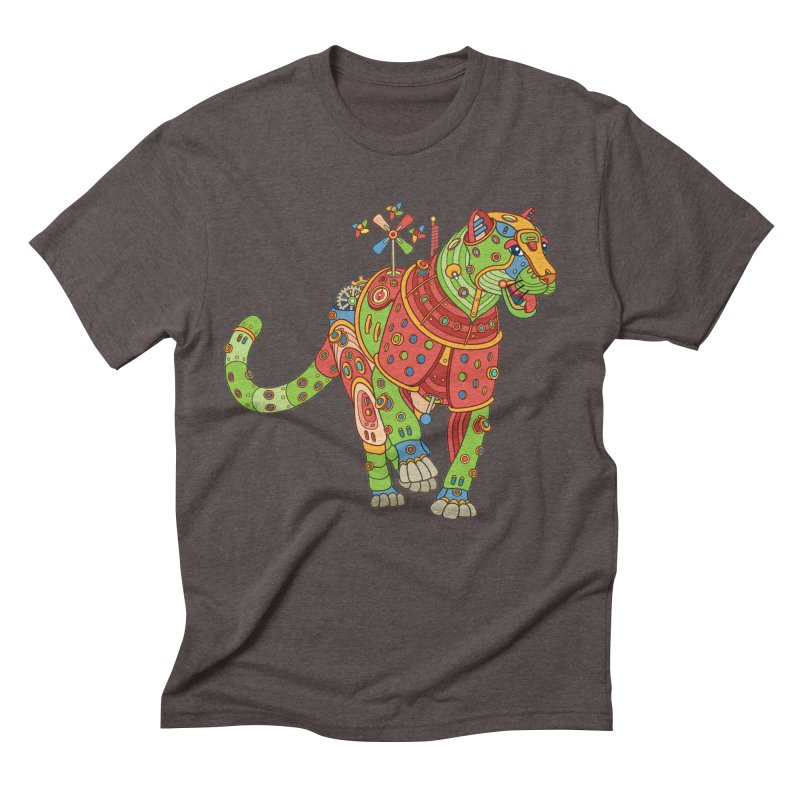 Jaguar, cool art from the AlphaPod Collection Men's Triblend T-Shirt by AlphaPod