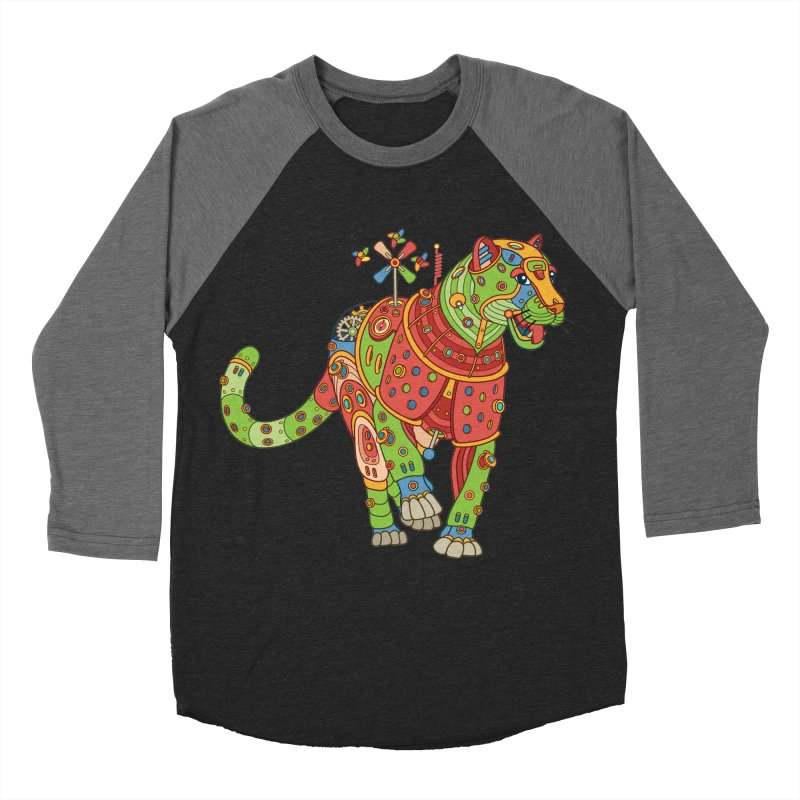 Jaguar, cool art from the AlphaPod Collection Men's Baseball Triblend Longsleeve T-Shirt by AlphaPod