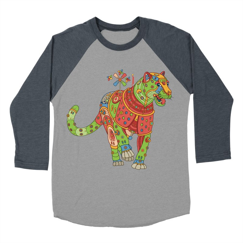 Jaguar, cool wall art for kids and adults alike Men's Baseball Triblend T-Shirt by AlphaPod