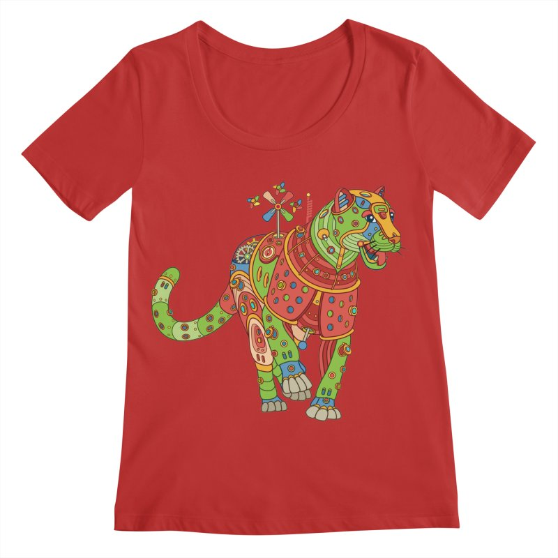 Jaguar, cool art from the AlphaPod Collection Women's Regular Scoop Neck by AlphaPod