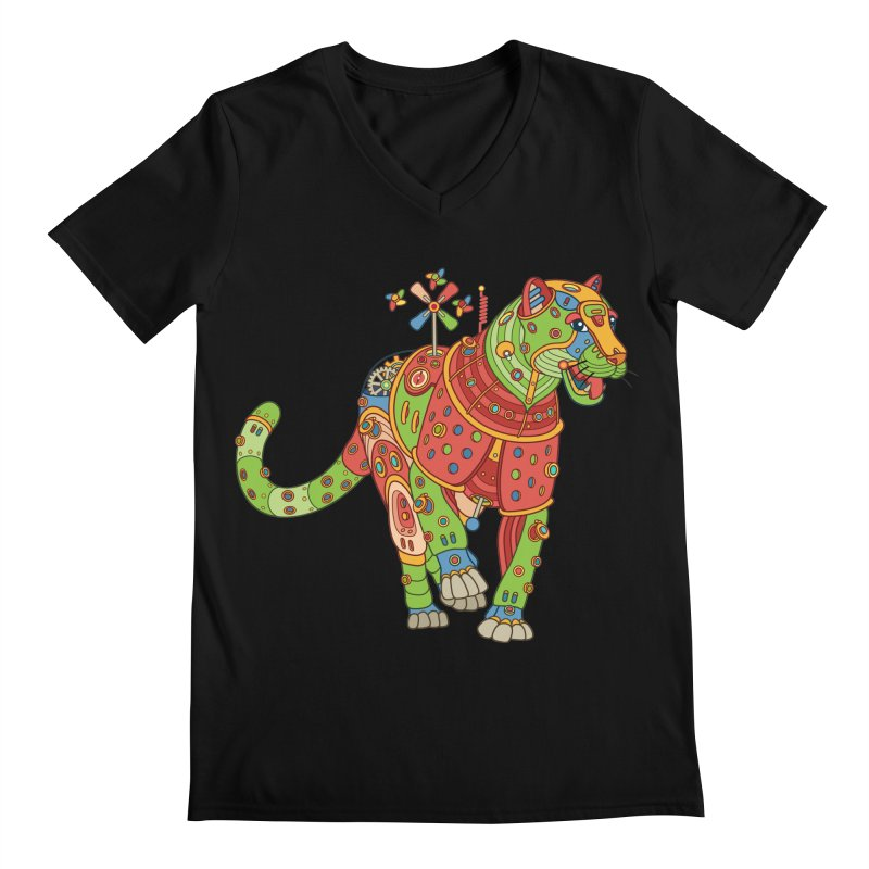 Jaguar, cool art from the AlphaPod Collection Men's Regular V-Neck by AlphaPod