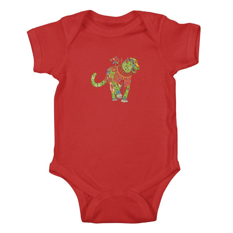 Jaguar, cool wall art for kids and adults alike Kids Baby Bodysuit by AlphaPod