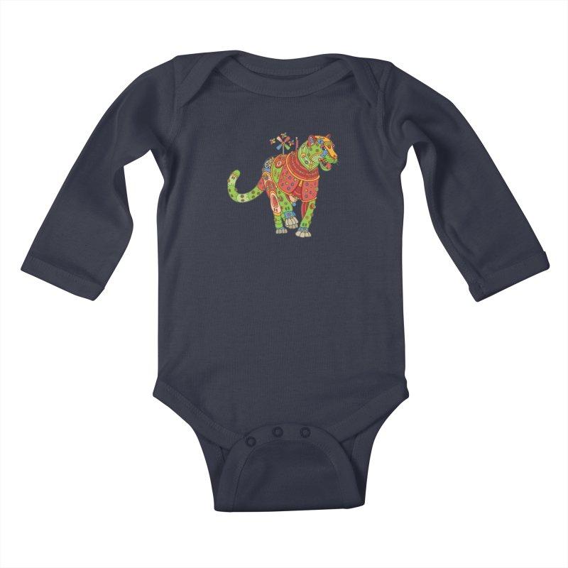 Jaguar, cool art from the AlphaPod Collection Kids Baby Longsleeve Bodysuit by AlphaPod