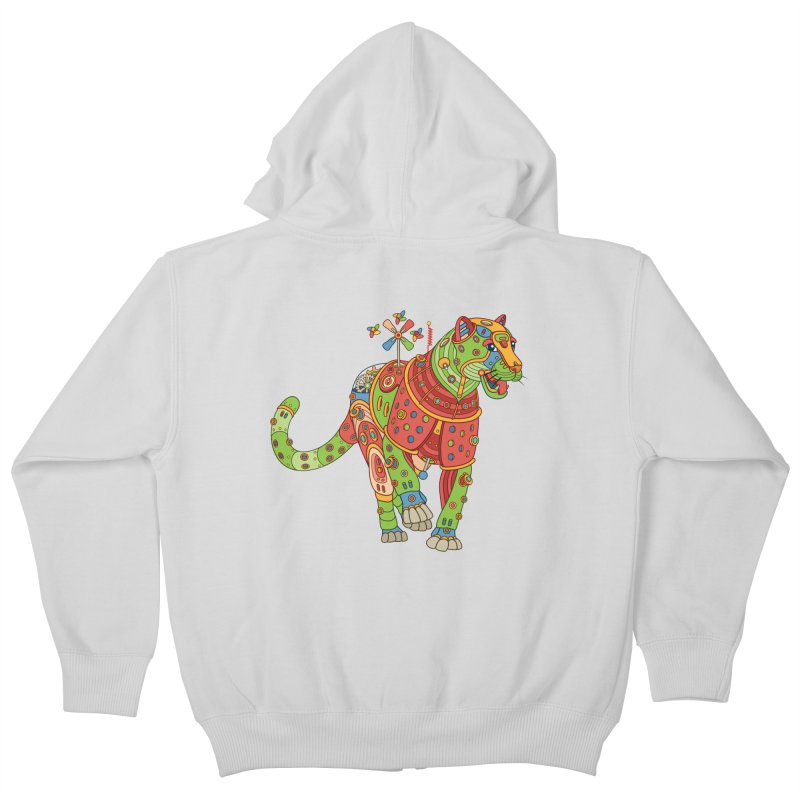 Jaguar, cool art from the AlphaPod Collection Kids Zip-Up Hoody by AlphaPod