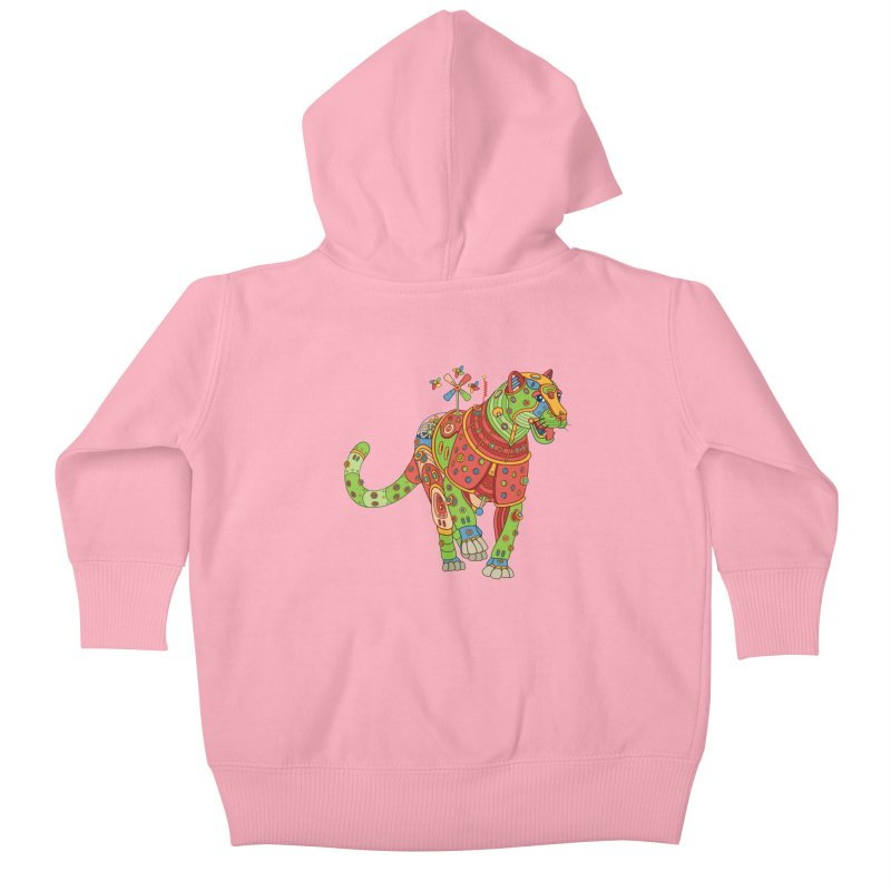 Jaguar, cool art from the AlphaPod Collection Kids Baby Zip-Up Hoody by AlphaPod