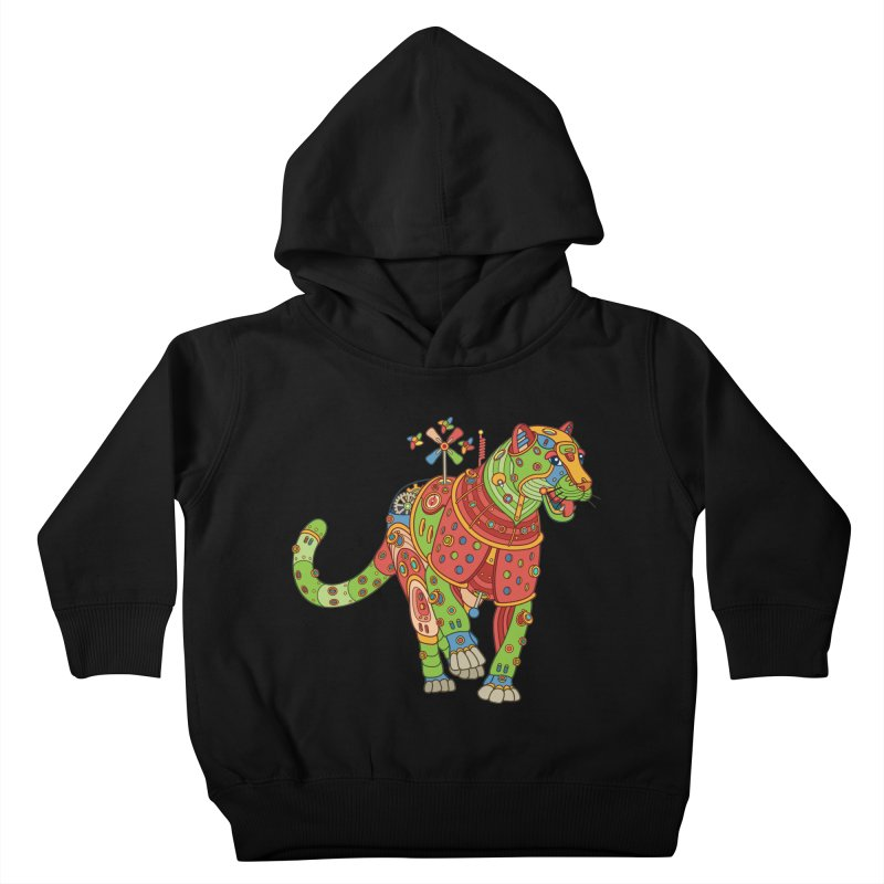 Jaguar, cool wall art for kids and adults alike Kids Toddler Pullover Hoody by AlphaPod