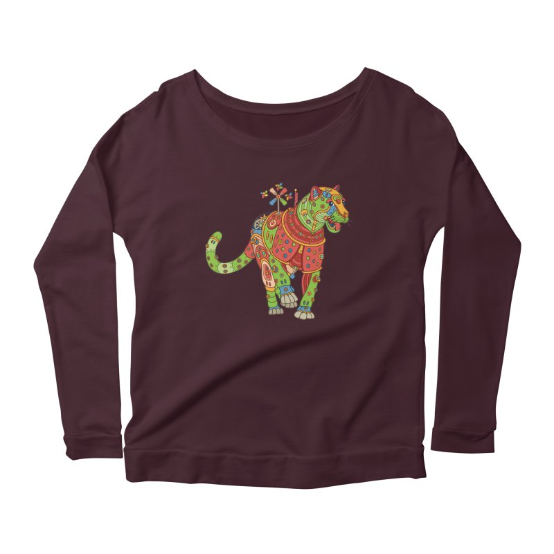 Jaguar, cool art from the AlphaPod Collection Women's Longsleeve T-Shirt by AlphaPod