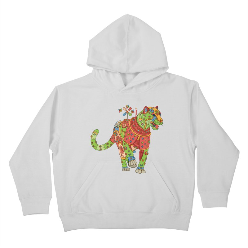 Jaguar, cool art from the AlphaPod Collection Kids Pullover Hoody by AlphaPod