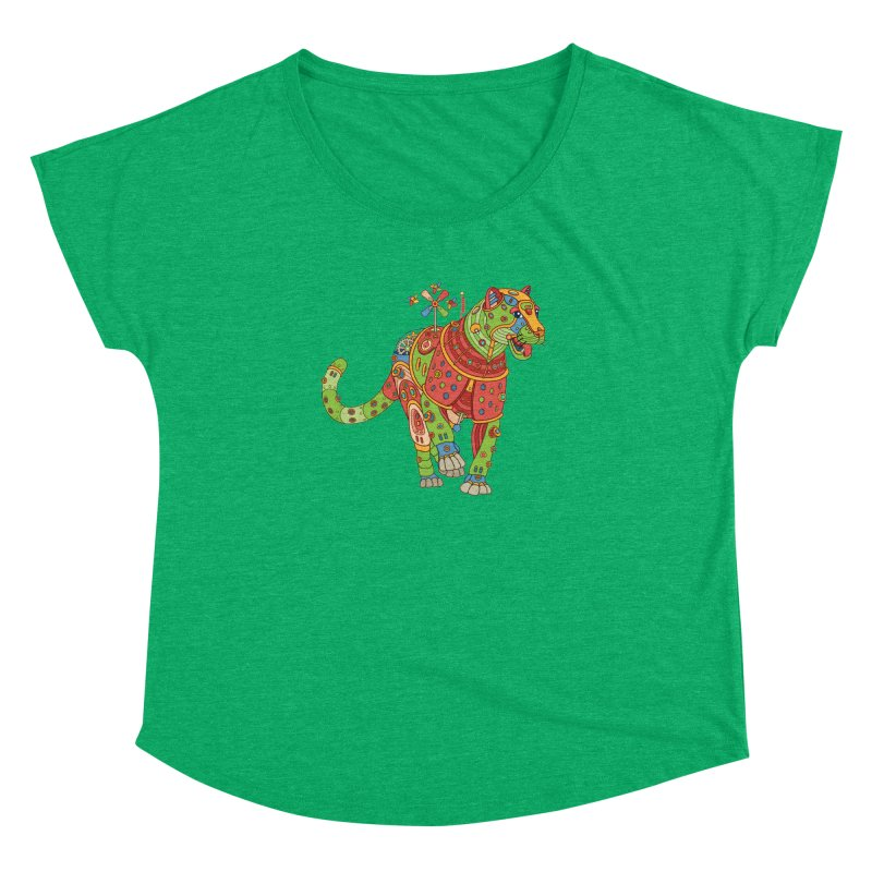 Jaguar, cool art from the AlphaPod Collection Women's Dolman by AlphaPod