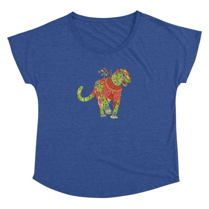 Jaguar, cool art from the AlphaPod Collection Women's Scoop Neck by AlphaPod