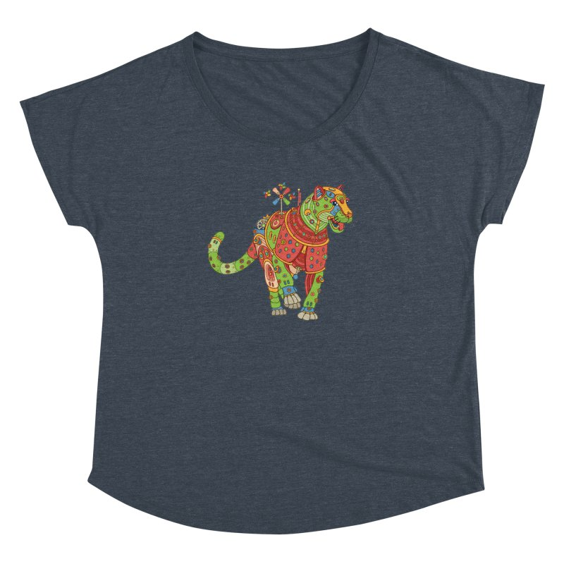 Jaguar, cool art from the AlphaPod Collection Women's Dolman Scoop Neck by AlphaPod