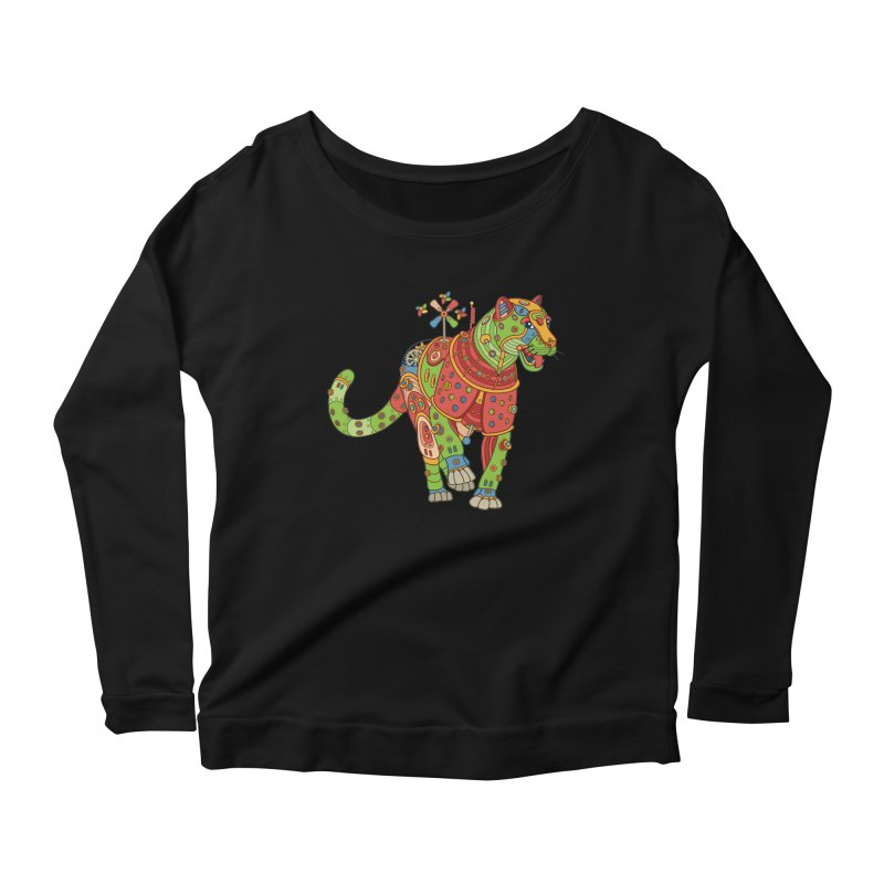 Jaguar, cool art from the AlphaPod Collection Women's Scoop Neck Longsleeve T-Shirt by AlphaPod