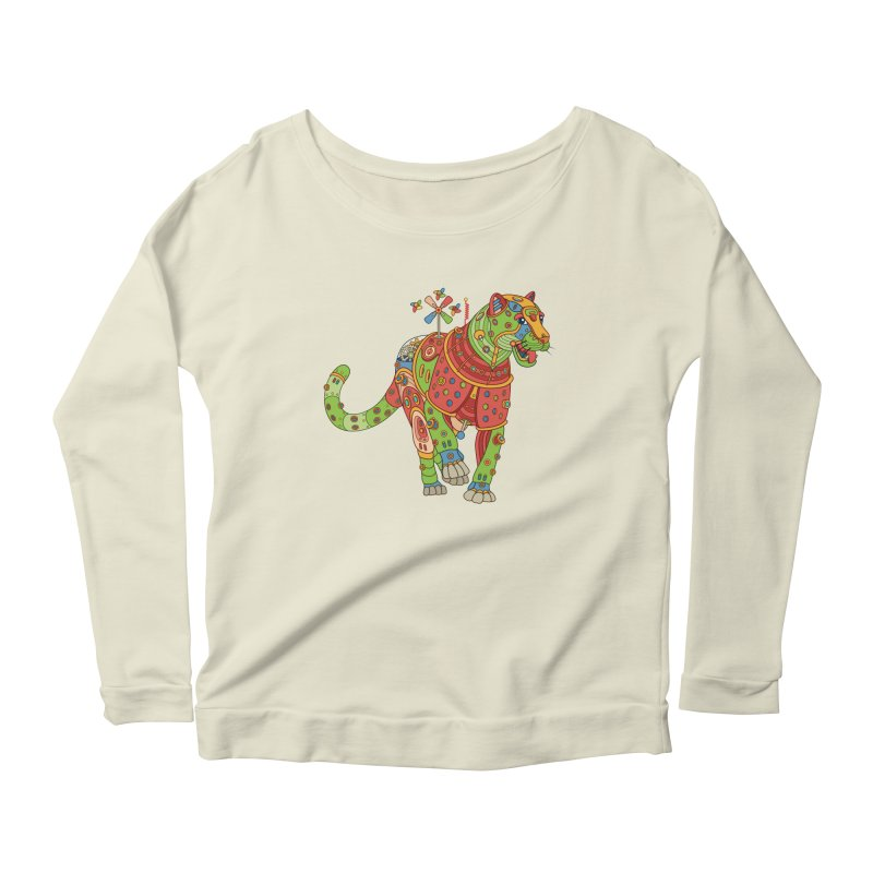 Jaguar, cool art from the AlphaPod Collection Women's Scoop Neck Longsleeve T-Shirt by AlphaPod