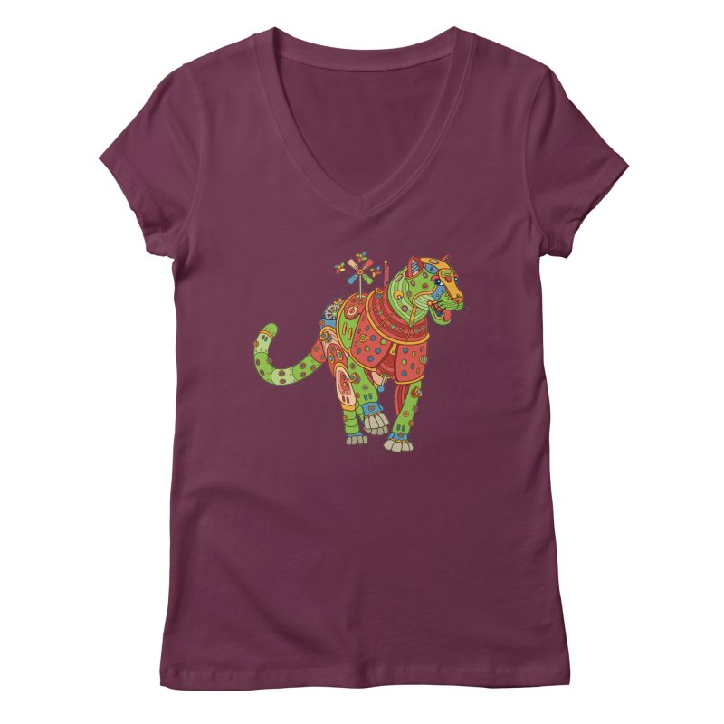 Jaguar, cool wall art for kids and adults alike Women's V-Neck by AlphaPod