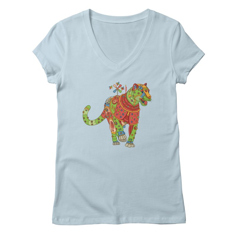 Jaguar, cool art from the AlphaPod Collection Women's Regular V-Neck by AlphaPod