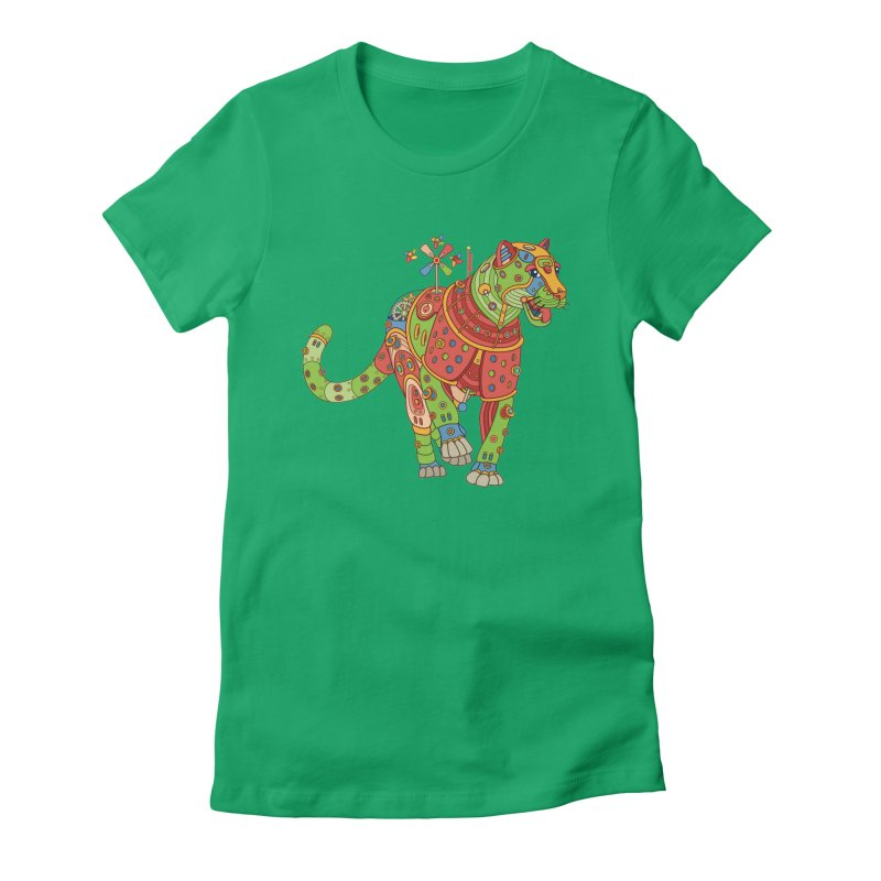 Jaguar, cool art from the AlphaPod Collection Women's Fitted T-Shirt by AlphaPod