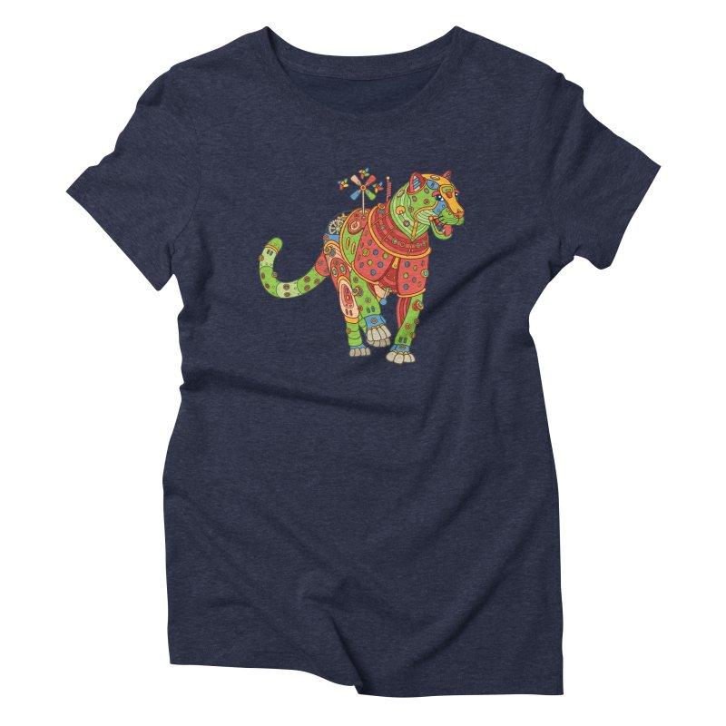 Jaguar, cool art from the AlphaPod Collection Women's Triblend T-Shirt by AlphaPod