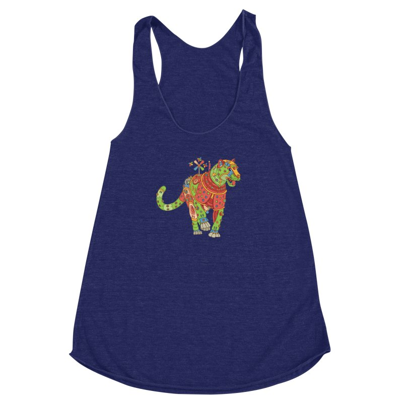 Jaguar, cool art from the AlphaPod Collection Women's Racerback Triblend Tank by AlphaPod