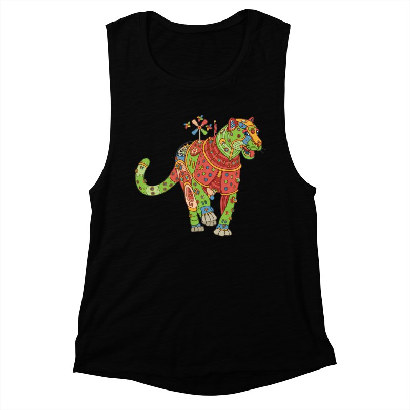 Jaguar, cool art from the AlphaPod Collection Women's Muscle Tank by AlphaPod