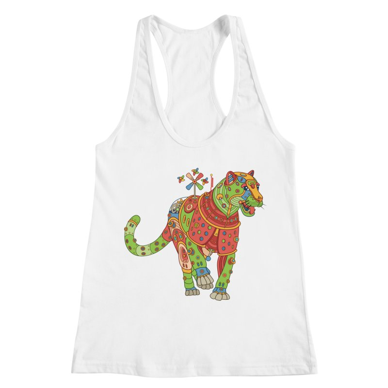 Jaguar, cool art from the AlphaPod Collection Women's Racerback Tank by AlphaPod