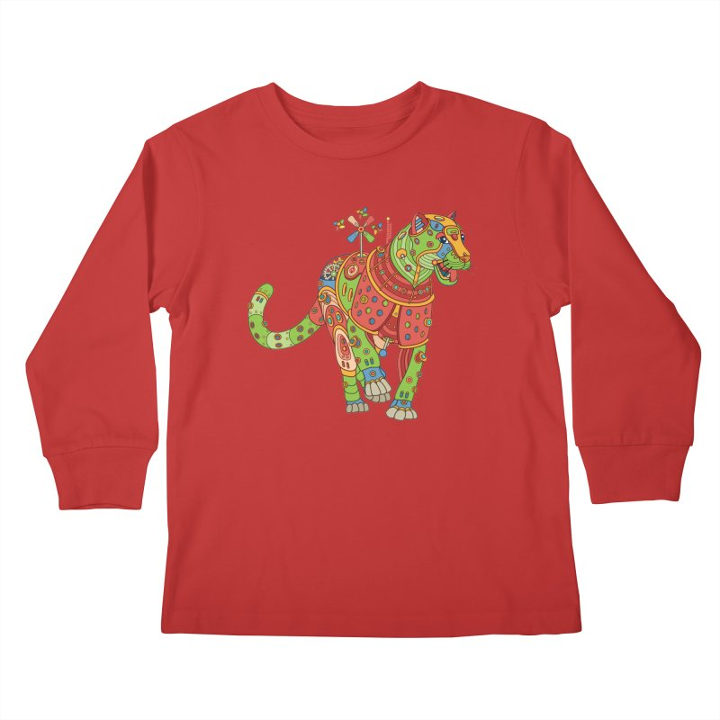 Jaguar, cool art from the AlphaPod Collection Kids Longsleeve T-Shirt by AlphaPod