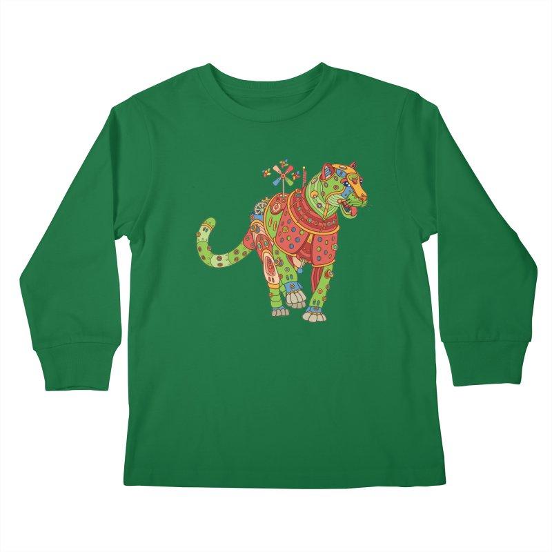 Jaguar, cool wall art for kids and adults alike Kids Longsleeve T-Shirt by AlphaPod
