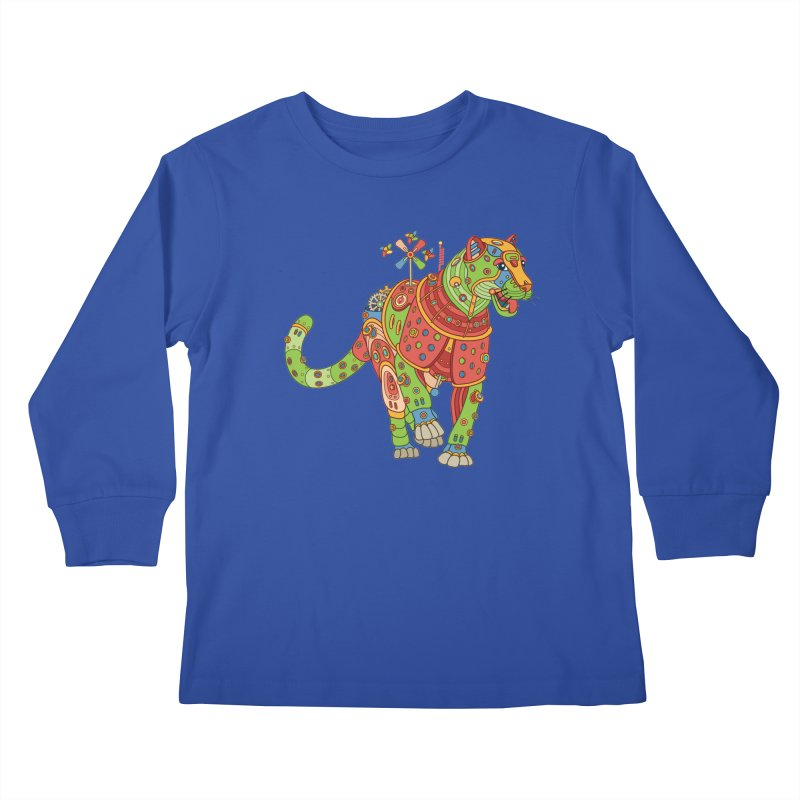 Jaguar, cool art from the AlphaPod Collection Kids Longsleeve T-Shirt by AlphaPod