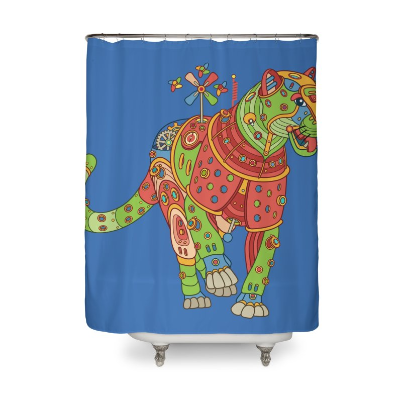 Jaguar, cool art from the AlphaPod Collection Home Shower Curtain by AlphaPod