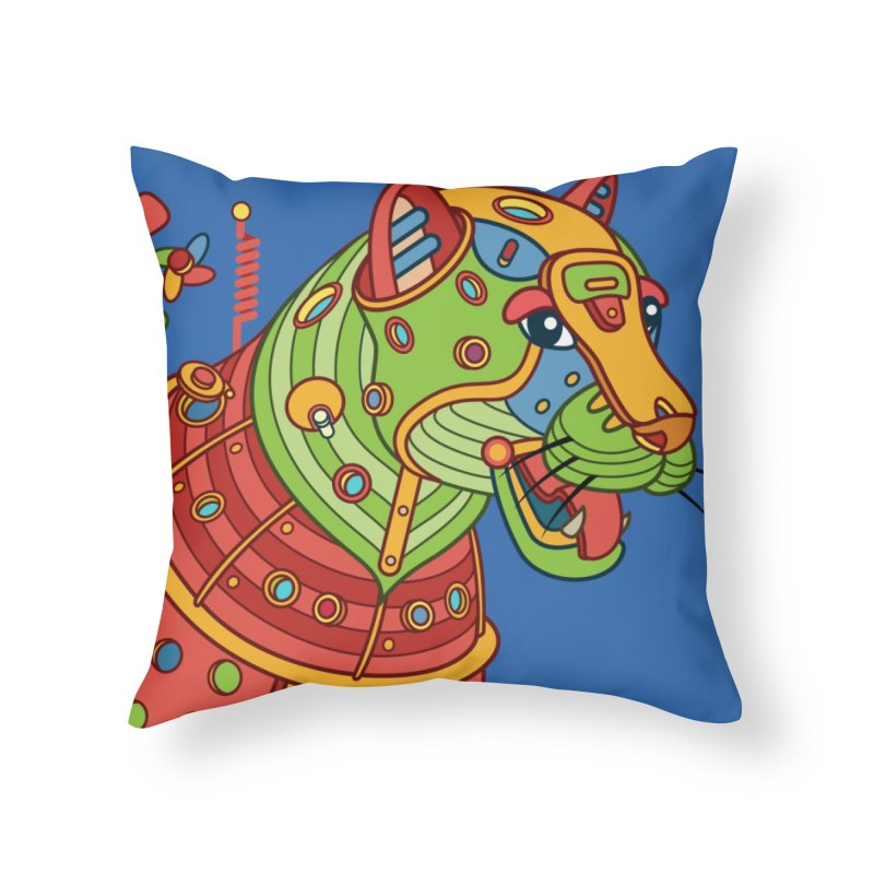 Jaguar, cool art from the AlphaPod Collection Home Throw Pillow by AlphaPod