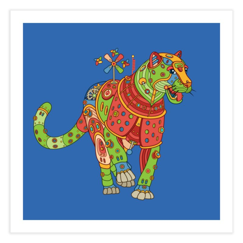 Jaguar, cool wall art for kids and adults alike Home Fine Art Print by AlphaPod