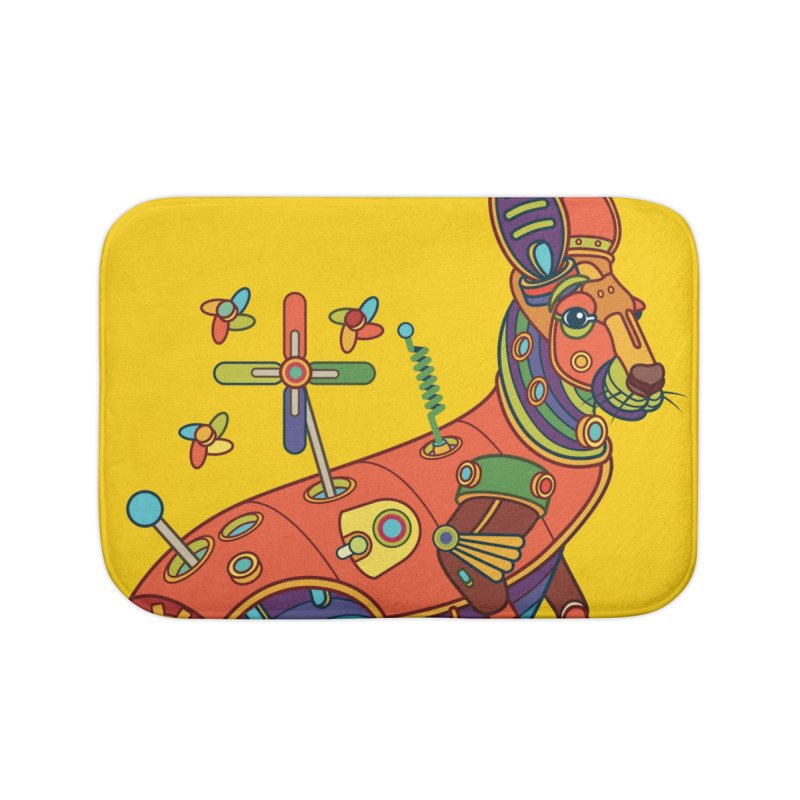 Kangaroo, cool art from the AlphaPod Collection Home Bath Mat by AlphaPod
