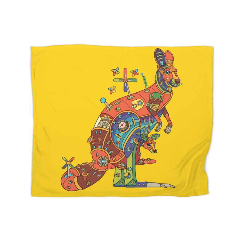 Kangaroo, cool art from the AlphaPod Collection Home Fleece Blanket Blanket by AlphaPod