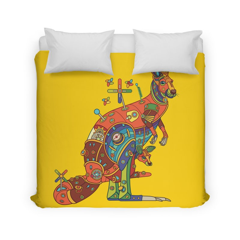 Kangaroo, cool art from the AlphaPod Collection Home Duvet by AlphaPod