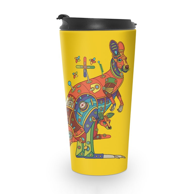 Kangaroo, cool art from the AlphaPod Collection Accessories Travel Mug by AlphaPod