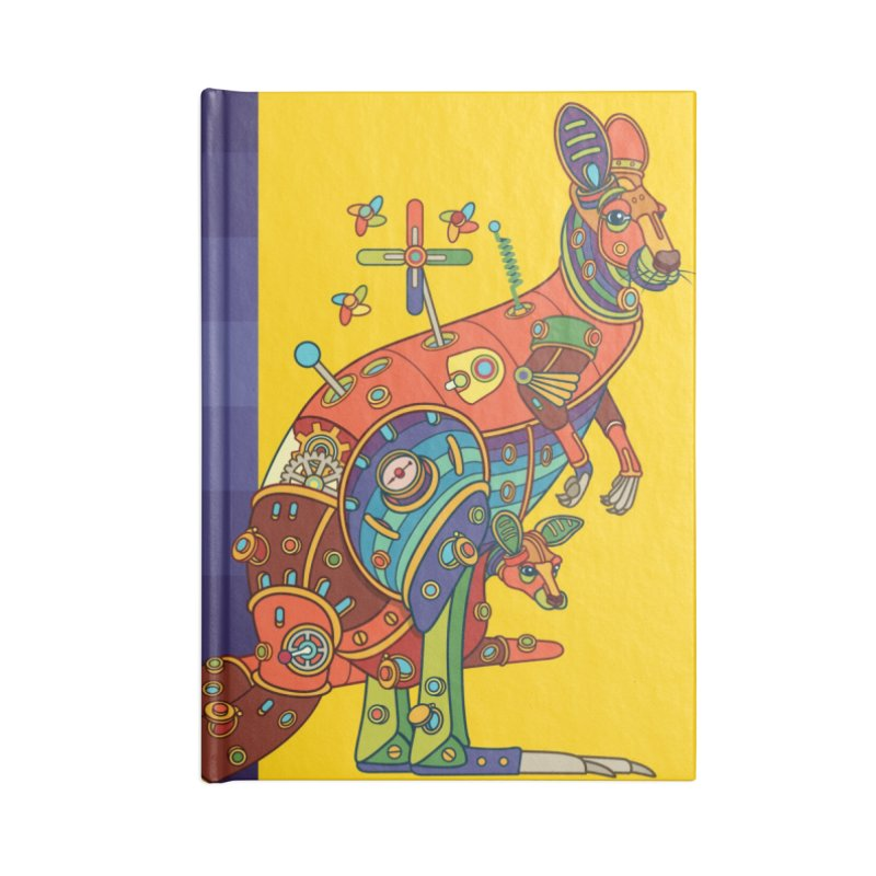 Kangaroo, cool art from the AlphaPod Collection Accessories Lined Journal Notebook by AlphaPod