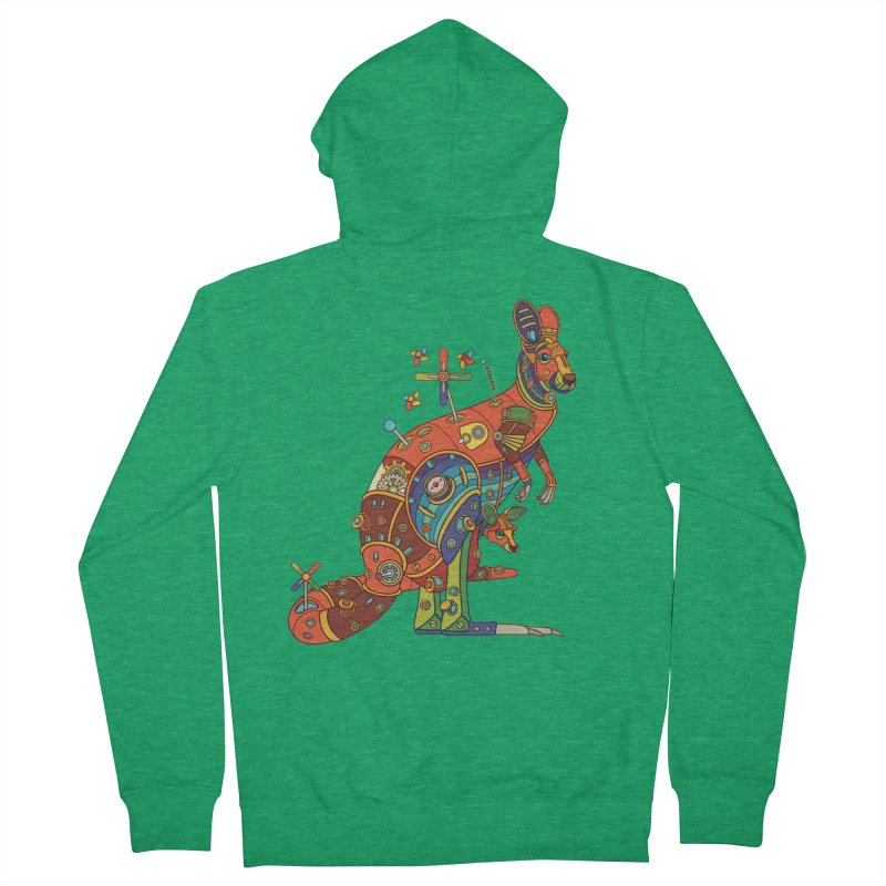 Kangaroo, cool art from the AlphaPod Collection Men's Zip-Up Hoody by AlphaPod