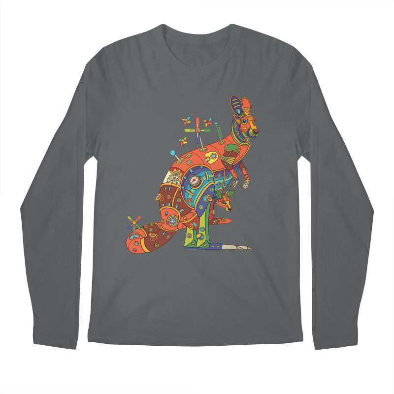 Kangaroo, cool art from the AlphaPod Collection Men's Longsleeve T-Shirt by AlphaPod